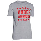 アンダーアーマー UNDER ARMOUR FREEDOM STARTS S S T-SHIRT Tシャツ 男の子用 (小学生 中学生) 子供用 TRUE GREY GRAY灰色・グレイ HEATHER ヘザー RISK RED 赤・レッド Tシャツ【02P03Dec16】