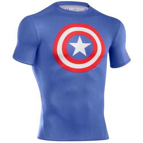 UNDER ARMOUR SUPER HERO LOGO ロゴ S/S 半袖 Tシャツ COMPRESSION コンプレッション TOP - MEN'S メンズ