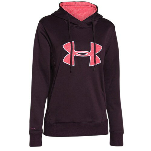 UNDER ARMOUR STORM ARMOUR BIG LOGO ロゴ APPLIQUE HOODIE フーディー・パーカー - WOMEN'S レディース