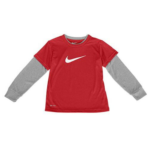 NIKE ナイキ DRI-FIT ドライフィット L/S 長袖・ロングスリーブ T-SHIRT Tシャツ - BOYS' TODDLER ベビー 赤ちゃん用