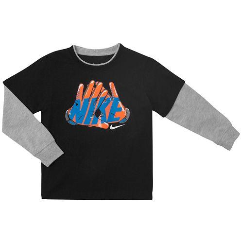 NIKE ナイキ GRAPHIC グラフィック L/S 長袖・ロングスリーブ T-SHIRT Tシャツ - BOYS' PRESCHOOL 小中学生 子供用