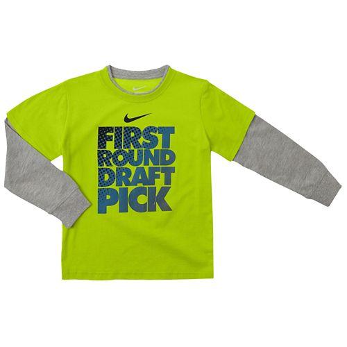 NIKE ナイキ GRAPHIC グラフィック L/S 長袖・ロングスリーブ T-SHIRT Tシャツ - BOYS' TODDLER ベビー 赤ちゃん用