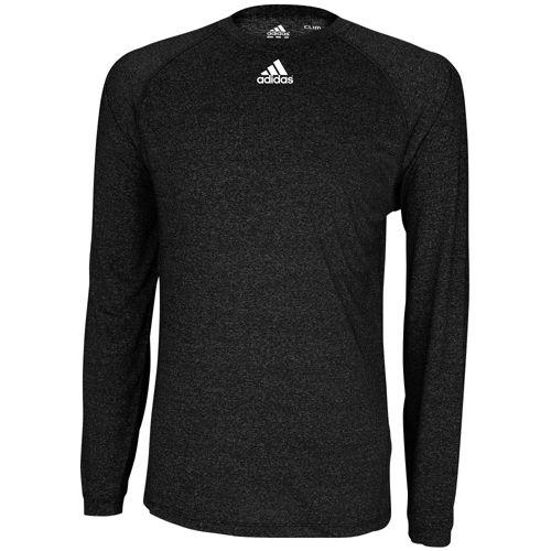 ADIDAS ADIDAS アディダス CLIMALITE LONG SLEEVE スリーブ LOGO ロゴ T-SHIRT Tシャツ - MEN'S メンズ