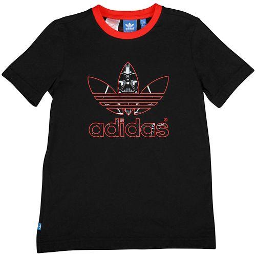 ADIDAS ADIDAS アディダス ORIGINALS オリジナルス STAR WARS S/S 半袖 Tシャツ GRAPHIC グラフィック T-SHIRT Tシャツ - BOYS' GRADE SCHOOL