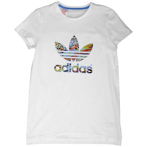 ADIDAS ADIDAS アディダス ORIGINALS オリジナルス FLOWER S/S 半袖 Tシャツ T-SHIRT Tシャツ - GIRLS' GRADE SCHOOL