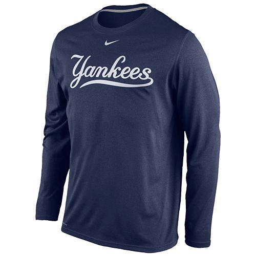NIKE ナイキ MLB DRI-FIT ドライフィット WORDMARK L/S 長袖・ロングスリーブ T-SHIRT Tシャツ - MEN'S メンズ