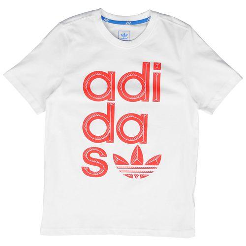 ADIDAS ADIDAS アディダス ORIGINALS オリジナルス WRAP WRAP ラップ LOGO ロゴ S/S 半袖 Tシャツ T-SHIRT Tシャツ - BOYS' GRADE SCHOOL