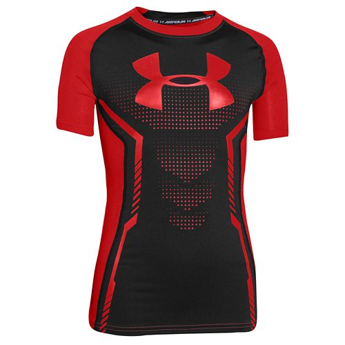 UNDER ARMOUR HEATGEAR ARMOUR FITTED S/S 半袖 Tシャツ T-SHIRT Tシャツ - BOYS' GRADE SCHOOL