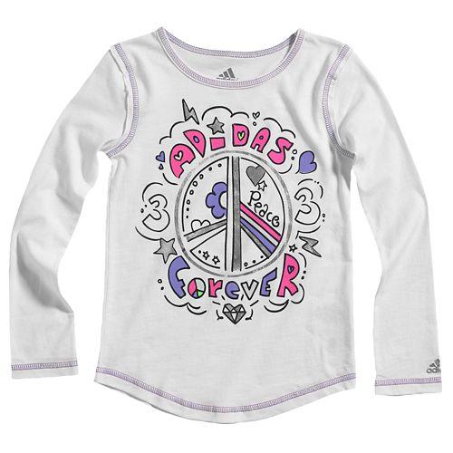 ADIDAS ADIDAS アディダス FOREVER L/S 長袖・ロングスリーブ T-SHIRT Tシャツ - GIRLS' PRESCHOOL 小中学生 子供用