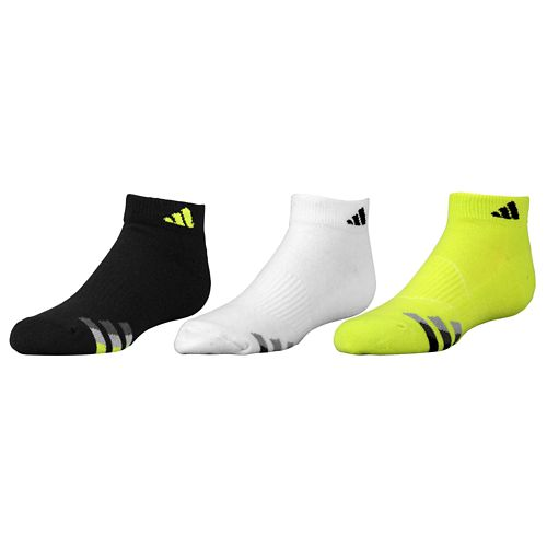 ADIDAS ADIDAS アディダス CUSHION 3-PACK LOW CUT SOCKS ソックス・靴下 - BOYS' GRADE SCHOOL