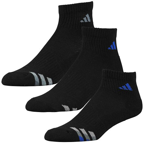 ADIDAS ADIDAS アディダス CUSHION 3-PACK QUARTER SOCKS ソックス・靴下 - BOYS' GRADE SCHOOL