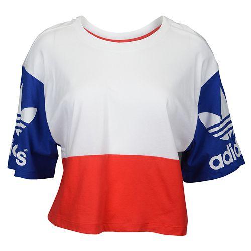 ADIDAS ADIDAS アディダス ORIGINALS オリジナルス LA TREFOIL トレフォイル LOGO ロゴ T-SHIRT Tシャツ - WOMEN'S レディース