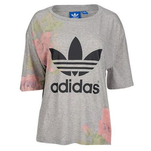 ADIDAS ADIDAS アディダス ORIGINALS オリジナルス PASTEL ROSE ローズ LOGO ロゴ T-SHIRT Tシャツ - WOMEN'S レディース