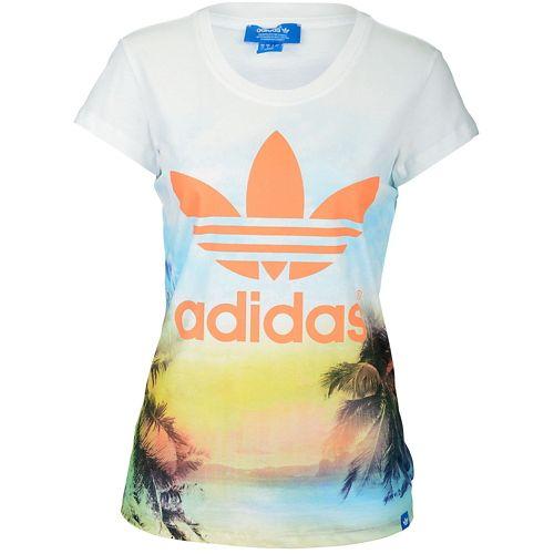 ADIDAS ADIDAS アディダス ORIGINALS オリジナルス PHOTO TREFOIL トレフォイル T-SHIRT Tシャツ - WOMEN'S レディース