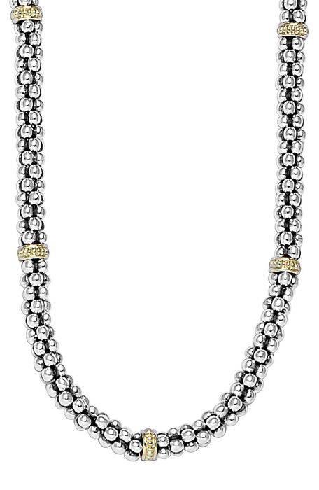mini caviarsupsup rope necklace ミニ caviar?< sup> ロープ ネックレス メンズジュエリー ジュエリー アクセサリー ペンダント LAGOS ウィメンズ・女性用 カジュアル/ファッション アクセサリー mini caviarsupsup rope necklace ミニ caviar?< sup> ロープ ネックレス