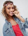 エイソス ASOS デザイン ジュエル ビード メタリック ディスク ヘッドバンド ピンク レディース 女性用 レディースファッション 【 PINK DESIGN JEWEL BEAD AND METALLIC DISC HEADBAND 】