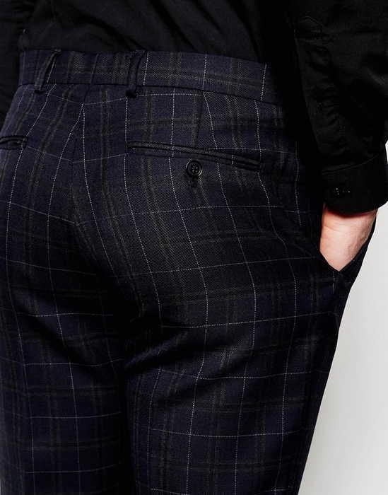 【国内正規総代理店アイテム】Number Eight Savile Row Exclusive Tartan Trousers パンツ in Skinny スキニー Fit