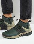 靴 メンズ NIKE ナイキ AIR エアー PRESTO UTILITY MID ミッド TRAINERS IN GREEN 緑 グリーン 859524300