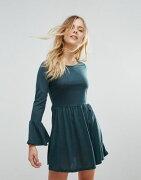 brave ブレーズ soul ソウル flare フレアー sleeve スリーブ jersey ジャージ dress ドレス ワンピース レディースファッション