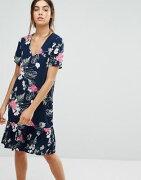 フローラル ウェスト ドレス プリント ワンピース ドロップ pieces enna ditsy floral print drop waist dress レディースファッション