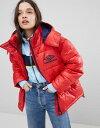 コート ハイ ビニール シャイン イン パッド umbro padded coat in high shine vinyl ジャケット レディースファッション アウター