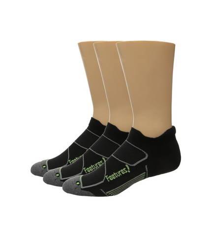 フィーチャーズ エリート マックス クッション ノー ショー タブ パック Feetures Elite Max Cushion No Show Tab 3-Pair Pack