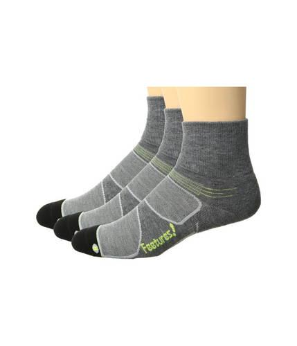 フィーチャーズ エリート マックス クッション クウォーター パック Feetures Elite Max Cushion Quarter 3-Pair Pack