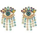 ベッツィジョンソン アイ フリンジ アクセサリー Betsey Johnson Colorful Evil Eye and Fringe Earrings