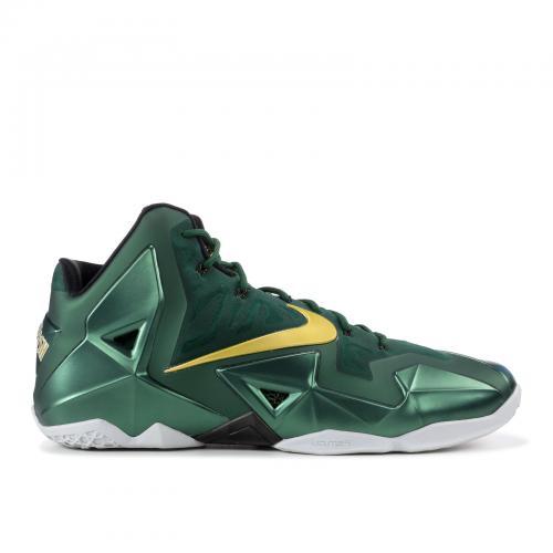 【サイズ交換可能商品】ナイキ レブロン アウェイ メンズ 男性用 メンズ靴 スニーカー 靴 【 NIKE LEBRON 11 PROMO SAMPLE SVSM AWAY GREEN GOLD 】