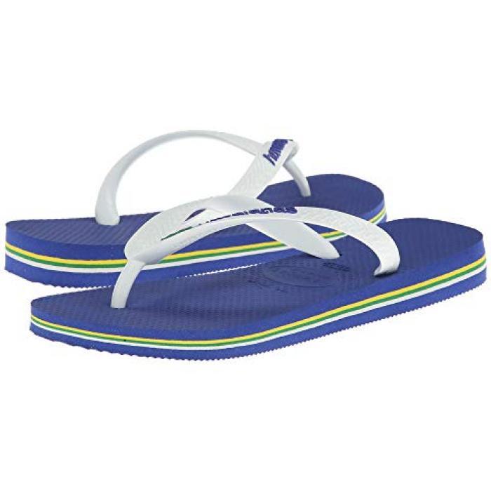 ハワイアナス ブラジル ロゴ ユニセックス フリップ フロップ マリン 青 ブルー レディース 女性用 レディース靴 【 BLUE HAVAIANAS BRASIL LOGO UNISEX FLIP FLOPS MARINE 】