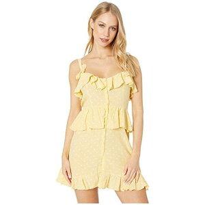 ラブ レモン タヒチ ミニ ドレス ワンピース 黄色 イ
