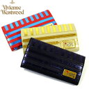 ヴィヴィアンウェストウッド 財布 ヴィヴィアン ビビアン メタリック ストライプ 2つ折り 長財布 全3色