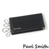 ポールスミス 財布 メンズ Paul Smith ダブルステッチキーケース ブラック 送料無料 代引き料有料 消費税込