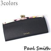 ポールスミス 財布 メンズ レディース Paul Smith フラワーポイント がま口長財布 全3色 送料無料 代引き料有料 消費税込
