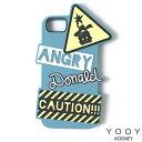 ショッピングiphoneケース YOOY ヨーイ ディズニー DISNEY/SILICONE iPhone ケース /YY-D003 BL アングリー ドナルド iPhone6/6s/7対応