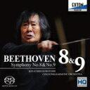 Composer: Ha Line - 【送料無料】ベートーヴェン:交響曲第8番&第9番「合唱」/小林研一郎,チェコ・フィルハーモニー管弦楽団[HybridCD]【返品種別A】