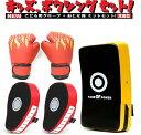 子供用 グローブ 湾曲型 ミット 4点 セット パンチンググローブ ボクシング 空手 格闘技 親子 トレーニング