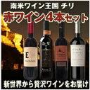 【送料無料】コストパフォーマンス最高!!ワンランク上のチリワイン 赤ワイン 4本セット