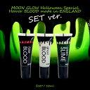 MOON GLOW お得な3本SET Halloween Special! 10ml ホラーメイク 仮装スタイル 血のり スライム UVゴーストカラー まるで本物の血液の..