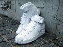 315123-111 NIKE AIR FORCE 1 MID ALL WHITE <strong>ナイキ</strong> エアーフォース1 ミッド オールホワイト