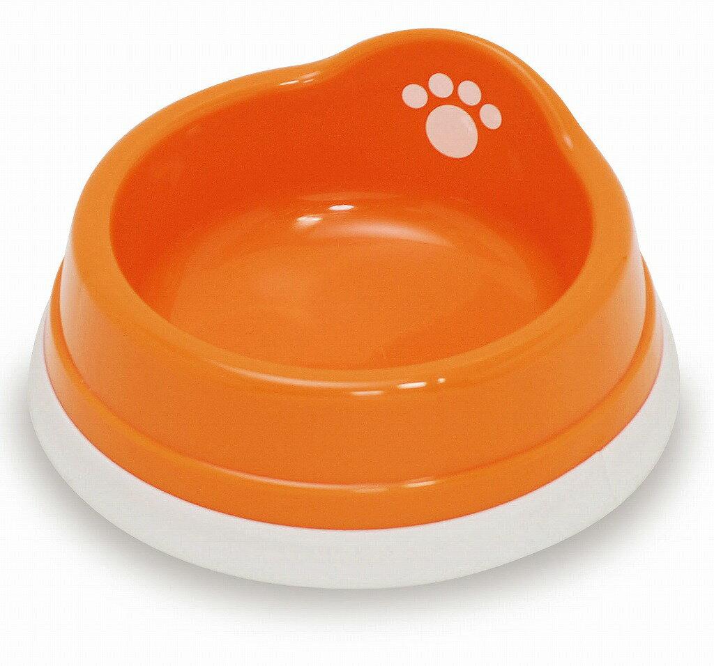 すべり止め付きペット皿(ミニ) オレンジ フードボウル《伊勢藤》