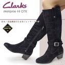 【あす楽】クラークス Clarks レディース ジョッキーブーツ メラニーハイGTX 741F ロングブーツ レザー スエード 本革 Melanie Hi GTX
