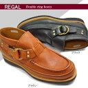 【あす楽】リーガル REGAL レザーブーツ メンズ Wリングバックル 59GR モカシン カジュアルブーツ STANDARDS リーガルスタンダーズ