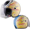 アルファレイズ 72JAM JET HELMET SPK-01 SP TADAO JET 「SP忠男 ジェットヘルメット」 イエロー/ブラック 目玉ヘルメット キッズサイズ