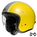 ショウエイ J.O CARBURETTOR(キャブレター) ジェイ・オー ジェットヘルメット 【TC-3(YELLOW/SILVER) Lサイズ】