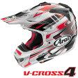 アライ V-CROSS4 TIP (Vクロス4 ティップ/VX4 TIP) オフロードヘルメット 【赤 XLサイズ】