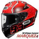 ショウエイ X-FOURTEEN MARQUEZ4 X-14 マルケス4 レプリカ フルフェイスヘルメット 【TC-1(RED/BLACK) XLサイズ】