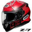 ショウエイ Z-7 MARQUEZ 3 (ゼット-セブン マルケス3) フルフェイスヘルメット 【TC-1(RED/BLACK) Lサイズ】 マルク・マルケス選手 2015シーズングラフィック