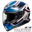 ショウエイ Z-7 VALKYRIE (ヴァルキリー) フルフェイスヘルメット 【TC-2(BLUE/WHITE) Lサイズ】