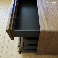 【受注生産商品】幅70cmウォールナット材ウォールナット無垢材天然木木製無垢材をレンガのように貼り合わせた芸術的なデザインの4段チェストBLOCK-CH70